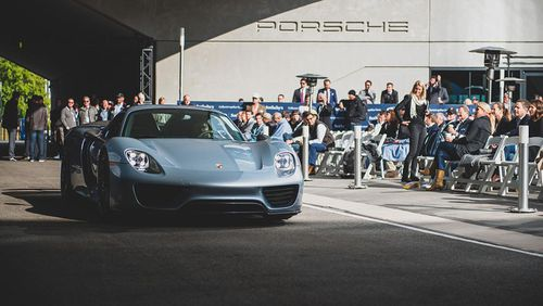 A 918 Porsche Spyder which went for a mere AUD$1.4m.