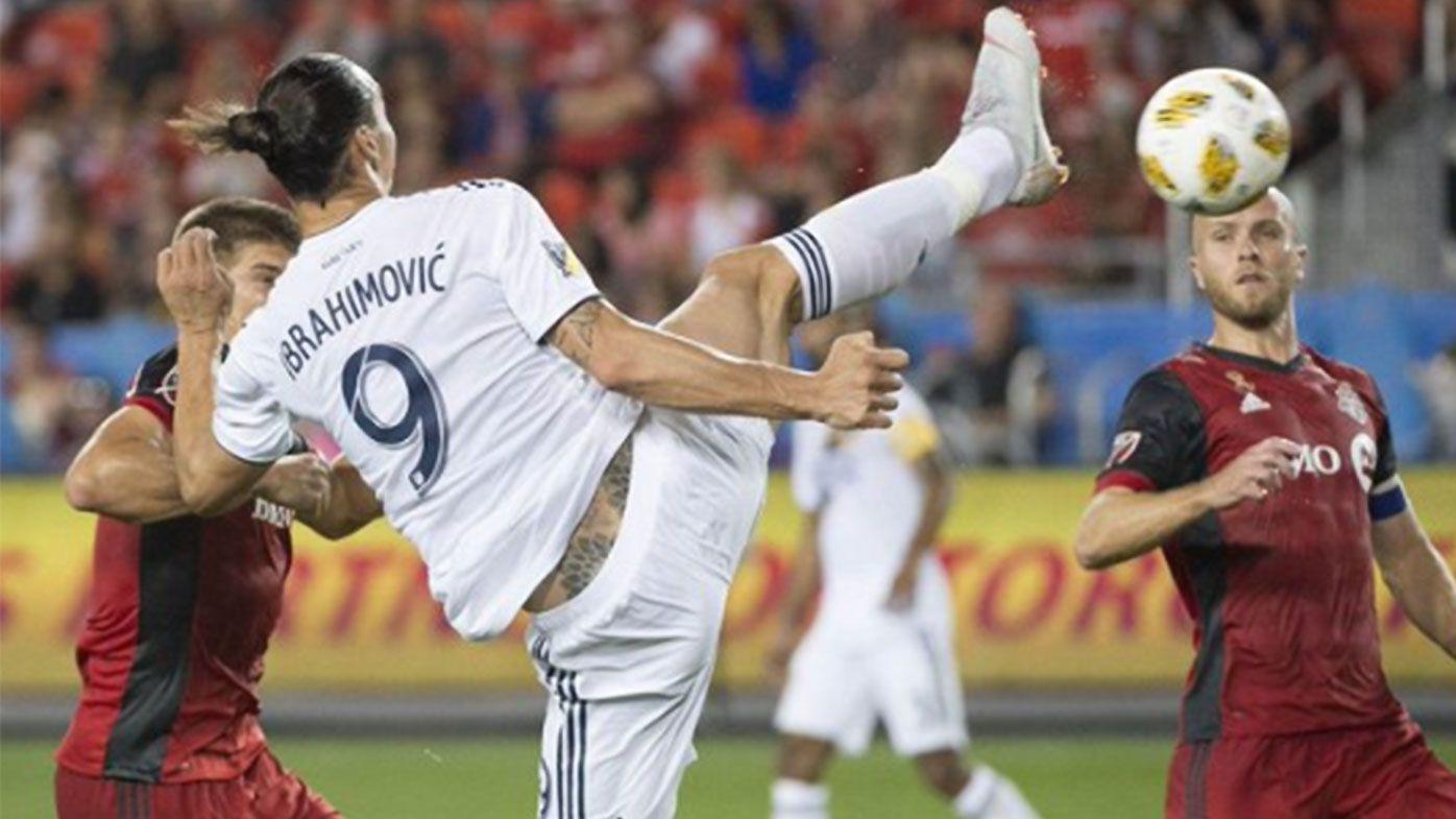 Zlatan Ibrahimovic nets incredible karate-chop goal to join Messi and Ronaldo with 500 career goals