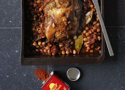 """Recipe:<a href=""""http://kitchen.nine.com.au/2016/05/17/09/58/lamb-with-chickpeas-and-sofrito"""" target=""""_top"""">Lamb with chickpeas and sofrito</a>"""