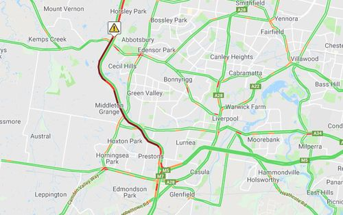 Heavy traffic delays were expected in western Sydney this morning. Picture: Supplied