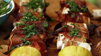 """Dial your romantic seafood repertoire up a notch with some of <a href=""""http://kitchen.nine.com.au/2016/05/05/13/42/colin-magees-barbecued-swordfish-skewers"""" target=""""_top"""">Colin Magee's barbecued swordfish skewers</a>"""