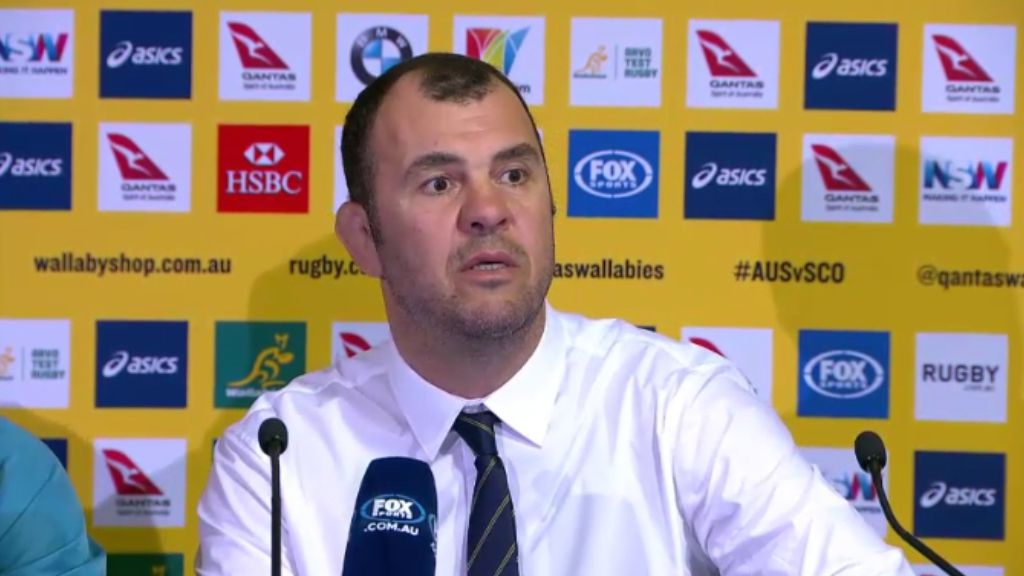 Cheika snaps at reporter