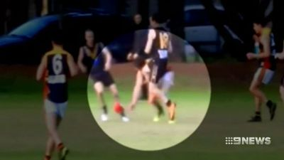 Footy player facing life ban after breaking opponent's jaw