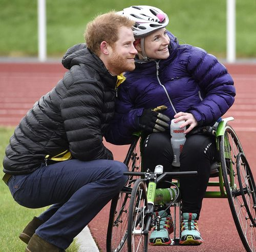 Ms Pollock was taking a break from competing for a spot on the United Kingdom's Invictus Games team. (AAP)