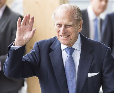 Prince Philip, Duke of Edinburgh, The School Of Veterinary Medicine at University of Surrey, October 15, 2015 in Guildford, England.