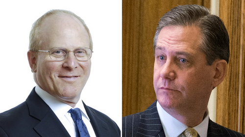 David Shoen (left) and Bruce Castor have joined Mr Trump's impeachment team.