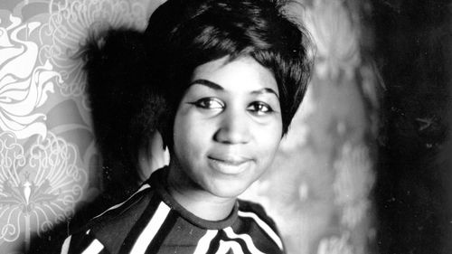 A young Aretha Franklin.