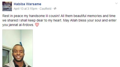 Family mourned his death on Facebook.