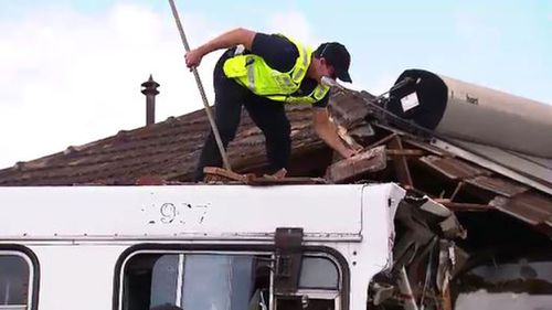 The driver of the bus was allegedly 10 times over the limit. (9NEWS)