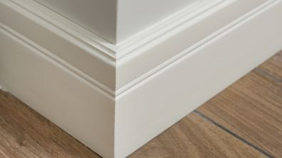 Skirting boards in a home
