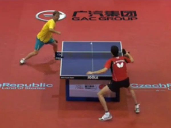 Table tennis rivals battle out amazing 91-shot rally