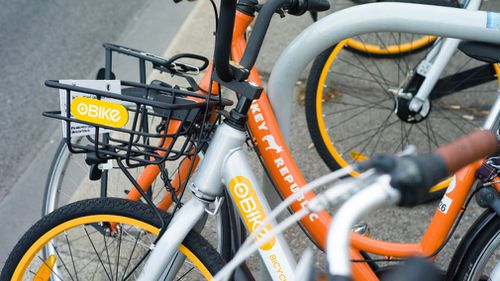 oBike is leaving Melbourne. (9NEWS)