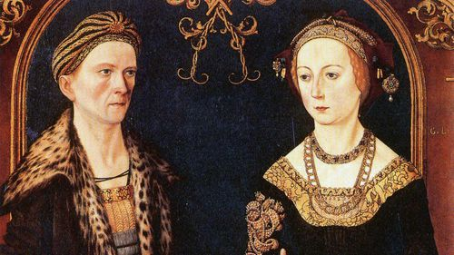 Jakob Fugger, seen here in a portrait with his wife, held a monopoly on the copper business in Medieval Europe.