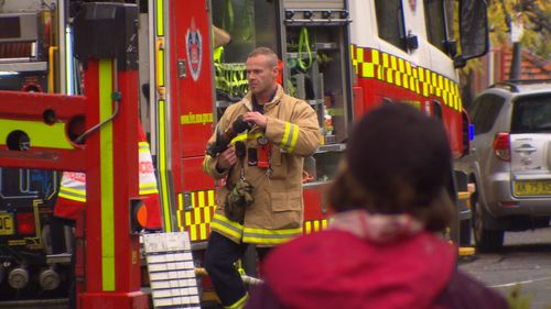 Fire crews at the scene of the blaze. (9NEWS)