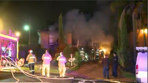Neighbours said it took over an hour for the blaze to be controlled. Image: 9News