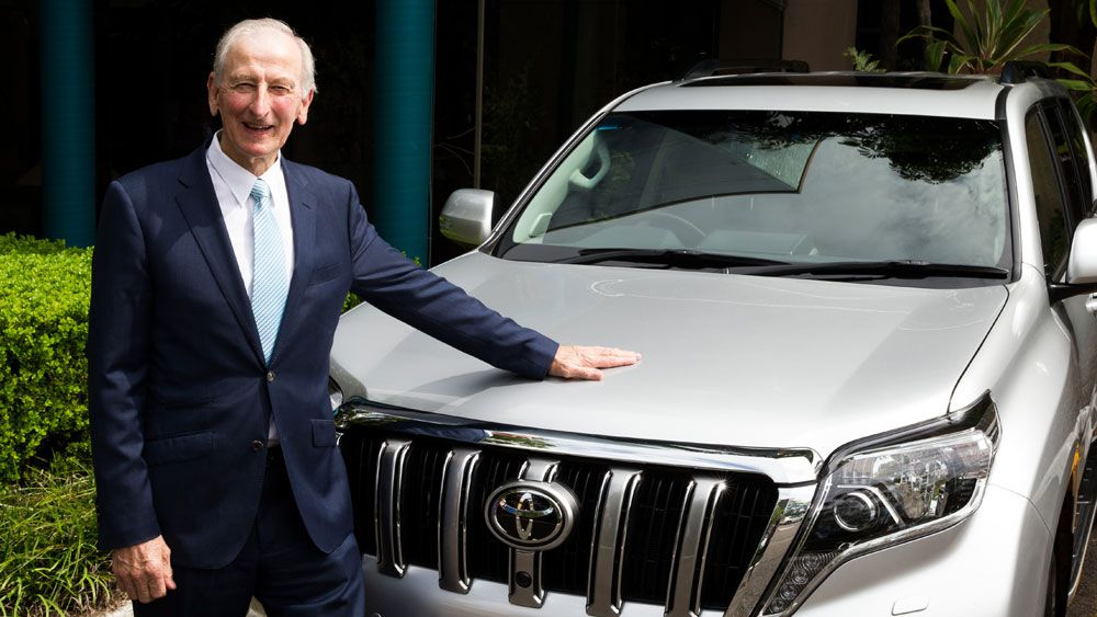 Legendary Channel Nine commentator Bill Lawry receives car for his 80th birthday