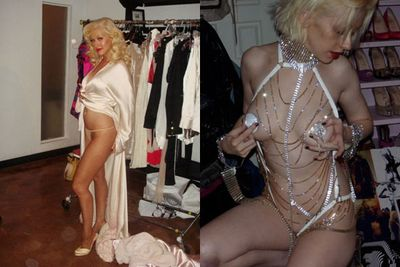 "These photos taken by Xtina's personal stylist were never meant to go public. ""She isn't shy about her body but these photos were clearly private,"" a pal told <i>The Sun</i>."
