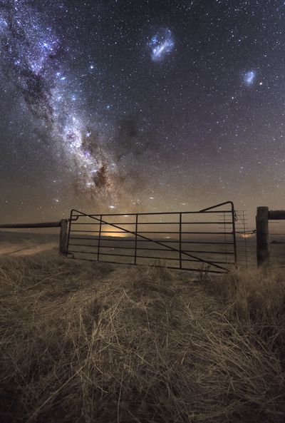 Nigh skies over rural property in Mid Murray region
