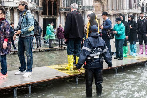 Venice has been left underwater from the rain.