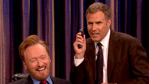 Watch now: Will Ferrell shaves Conan O'Brien's beard