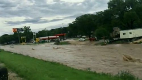 Flash flooding has destroyed everything in its path.