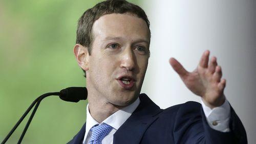 Mark Zuckerberg delivers the commencement address at Harvard University.