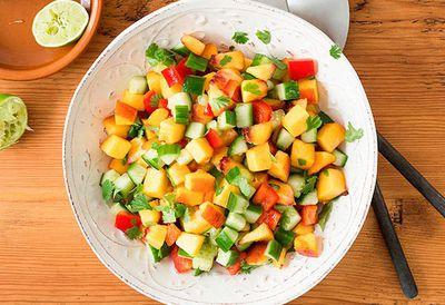 """<a href=""""http://kitchen.nine.com.au/2016/05/04/15/29/peach-salsa"""" target=""""_top"""">Peach salsa</a>"""
