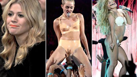Kelly Clarkson slams Miley, Gaga and Katy Perry's VMAs performances: 'They're pitchy strippers'