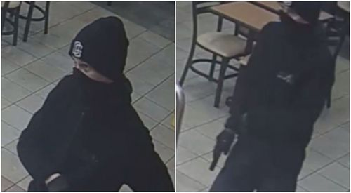 Police hunt a man for a string of armed robberies.