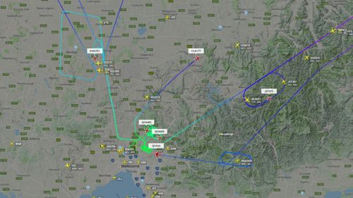 Inbound flights were forced to circle the airport.
