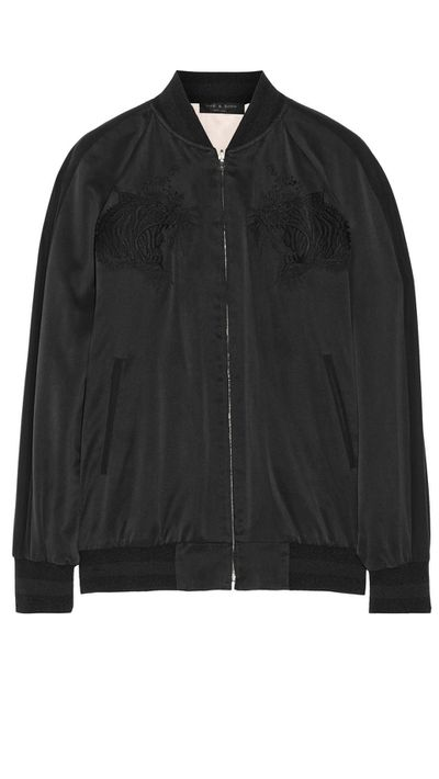 "<a href=""http://www.net-a-porter.com/product/493826/Rag_and_bone/akita-reversible-washed-silk-bomber-jacket"">Akita Reversible Washed-Silk Bomber Jacket, $998.60, Rag &amp; Bone</a>"