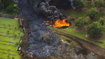 Many Hawaiians have said they aren't angry about the danger, viewing the lava's path as simply Mother Nature in action. (Getty)