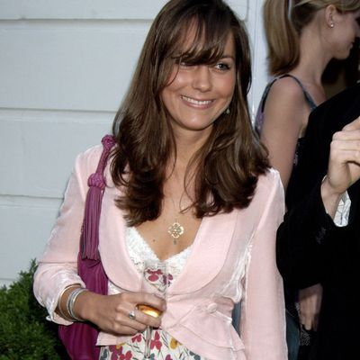 Kate Middleton attends a party in London, June 2006