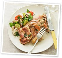 Veal scallopine with prosciutto