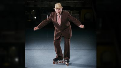 <p>Giuseppe Inserra still skates at 78. He built the Laverton Skate Rink in 1983 and taught children and adults how to skate.</p><p>He volunteers at Benetas St George's weekly.</p>