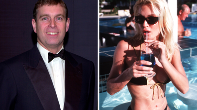 Prince Andrew and Caprice Bourret both pictured in 2000, the year they reportedly dated.