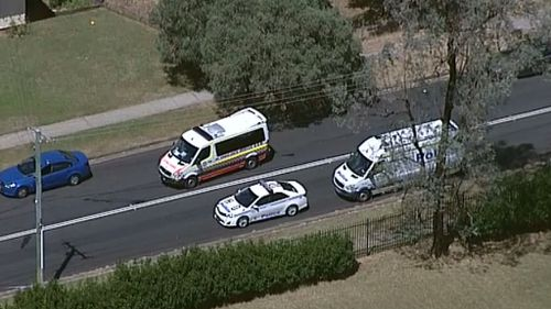 A number of emergency services are at the scene. (9NEWS)