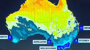 Bitter cold front to sweep Australia.