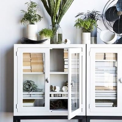 <strong>Fill a cabinet with your old books</strong>