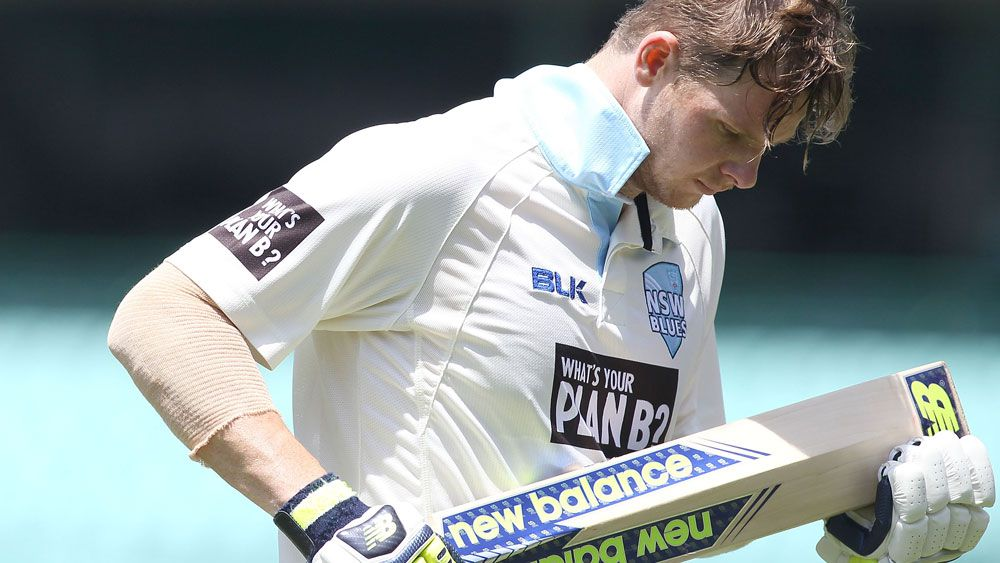 Test skipper Steve Smith had an unhappy day at the SCG. (Getty Images)