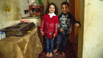 Syrian refugee twins Yazan and Razan
