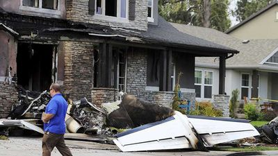 US man flies stolen plane into own home after fight with wife