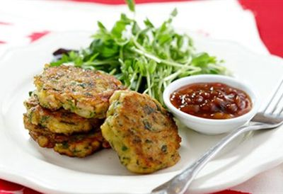 Thursday: Corn and bacon fritters