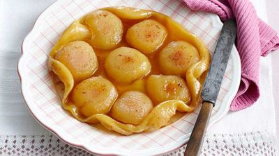 "Recipe: <a href=""http://kitchen.nine.com.au/2016/05/13/13/05/apple-tarte-tatin"" target=""_top"">Apple tarte tatin</a>"