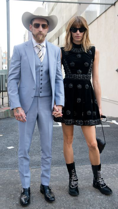 <p><strong>These kindred spirits know that the best accessory is a perfectly matched mate.</strong></p><p><strong></strong></p><p><strong>The ultimate blog fodder<br />Justin O'Shea and Veronika Heilbrunner</strong></p>