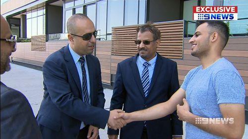 Delegates from the Saudi Arabian embassy praised the hero. (9NEWS)