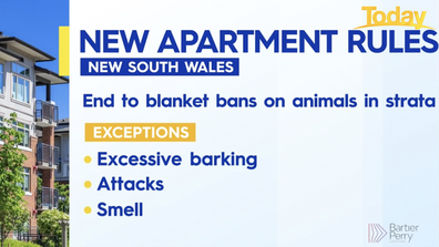 NSW apartment rules for pets.