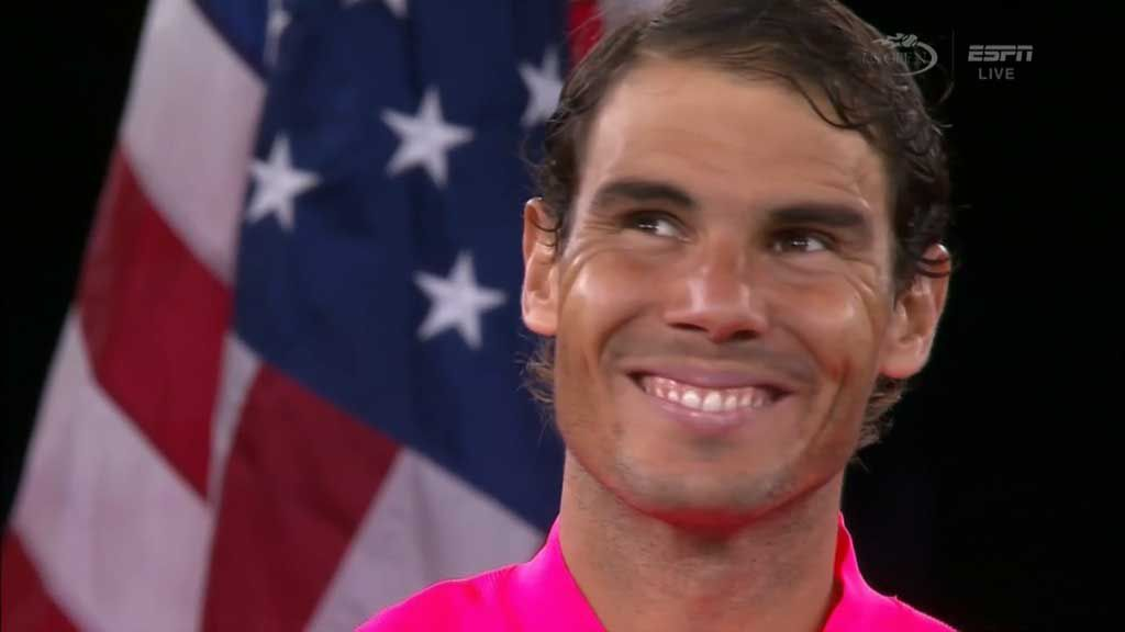 Nadal celebrates 16th major title