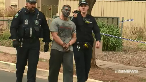 A man is in custody after allegedly going on a rampage throughout a street in Adelaide's northeast.