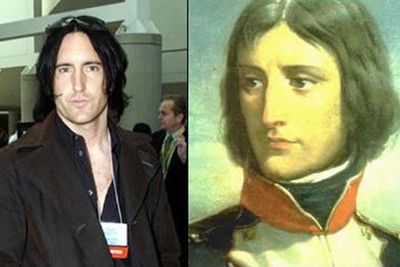 Nowadays he's the front man for rock band <i>Nine Inch Nails</i> but a little while ago, Trent Reznor was actually French revolutionary Napoleon Bonaparte. Born in 1769, Trent is now 242 years young.